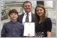 Malcolm Drew with his Civic Award